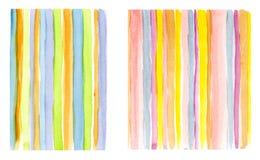 Lignes colorées d'aquarelle Images stock