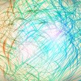 Lignes colorées de crayon Images libres de droits