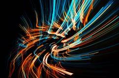Lignes colorées de flambage rêveuses Image stock