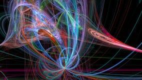 Lignes colorées fond 3d abstrait Photographie stock