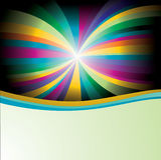 Lignes colorées fond digital illustration stock