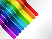 Lignes colorées fond sur le blanc Images libres de droits