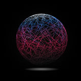 Lignes colorées mobiles de fond abstrait Photo stock