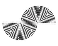 Lignes conception de rayure de cercle d'icône de symbole de vecteur de logo Beau Images stock