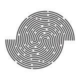 Lignes conception de rayure de cercle d'icône de symbole de vecteur de logo La belle IL Photographie stock