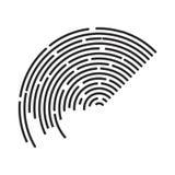 Lignes conception de rayure de cercle d'icône de symbole de vecteur de logo La belle IL Photos stock