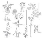 Lignes créatures de Nazca de désert de Nazca au Pérou illustration stock