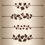 Lignes décoratives Images stock