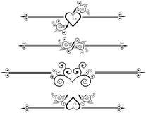 Lignes décoratives de règle Photo stock