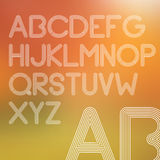Lignes décrites alphabet simple Photographie stock