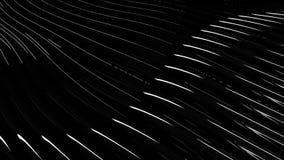 Lignes d'écoulement abstraites de métal animation Belles vagues de matériel brillant écartant et éclat se reflétant de lumière illustration stock