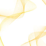 Lignes d'or doucement douces disposition de satin Image stock