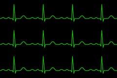 Lignes d'Ekg heartbeat Configuration sans joint illustration libre de droits