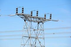 Lignes d'Electric Power et tours de transformateurs Images libres de droits