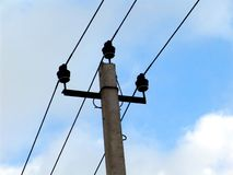 Lignes d'Electricy photographie stock