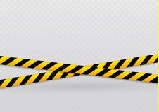 Lignes d'isolement d'isolation Dispositifs avertisseurs réalistes Signes du danger Illustration de vecteur, d'isolement sur un ce illustration de vecteur