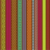 Lignes d'ornamental de couleur Image libre de droits