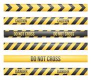 Lignes de bande de danger illustration de vecteur