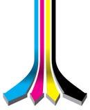 Lignes de Cmyk illustration de vecteur
