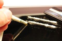 Lignes de cocaïne Images stock