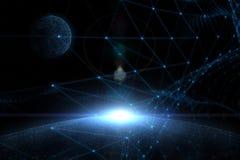 Lignes de connexion réseau avec l'illustration de sphère Photographie stock libre de droits
