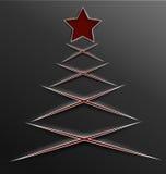 Lignes de coupe de papier d'arbre de Noël croix Photographie stock
