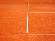 Lignes 90 de court de tennis Photos libres de droits