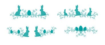 Lignes de décoration de Pâques Photo libre de droits