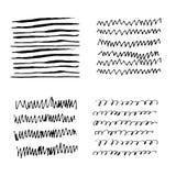 Lignes de griffonnage de texture de croquis Images libres de droits