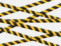 lignes de la précaution 3d d'isolement Dispositifs avertisseurs réalistes E Illustration de vecteur d'isolement sur le fond à car Images stock