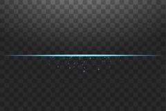 Lignes de lumi?res bleues abstraites sur l'illustration transparente de vecteur de fond Un ?clair lumineux de lumi?re sur la lign illustration libre de droits
