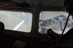 Lignes de Nazca de l'intérieur d'avion Photos libres de droits