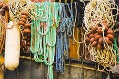 Lignes de pêche de différentes formes et couleurs Image libre de droits