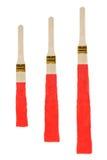 Lignes de peinture épaisses de couleur avec le fond blanc Photo stock