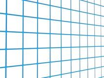 Lignes de réseau bleues Image stock