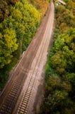 Lignes de rail Photographie stock libre de droits