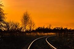 Lignes de rail Image libre de droits