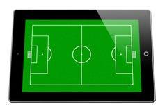 Lignes de terrain de basket sur l'iPad images stock