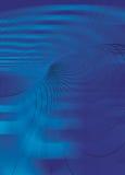 Lignes de tourbillonnement fines de fond digital de bleus Images libres de droits