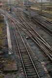 Lignes de train Images libres de droits