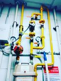 Lignes de tuyau de gaz photographie stock