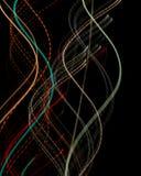 Lignes de vague de couleur, ADN photos libres de droits
