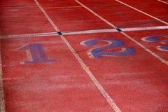 Lignes de voie pour la course courante image libre de droits