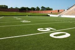 Lignes de yard de zone de football américain Photos stock