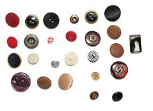 Lignes des boutons Photographie stock libre de droits