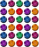 Lignes des boutons de couture Image libre de droits