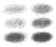 Lignes des textures tirées par la main, griffonnages pour votre conception Images stock