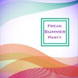 Lignes douces abstraites de différentes couleurs avec le texte Image libre de droits