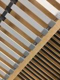 Lignes en bois et en plastique Meuble images stock