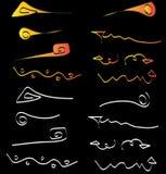 Lignes et éléments fous de flèches illustration de vecteur